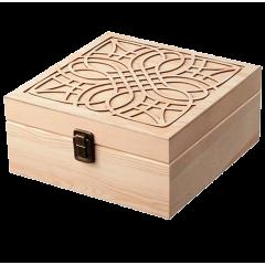 Dřevěná krabice na esenciální oleje